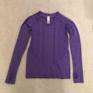 💜 Ivivva Purple Long Sleeve Top With Thumbholes